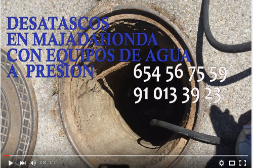 video desatascos en majadahonda
